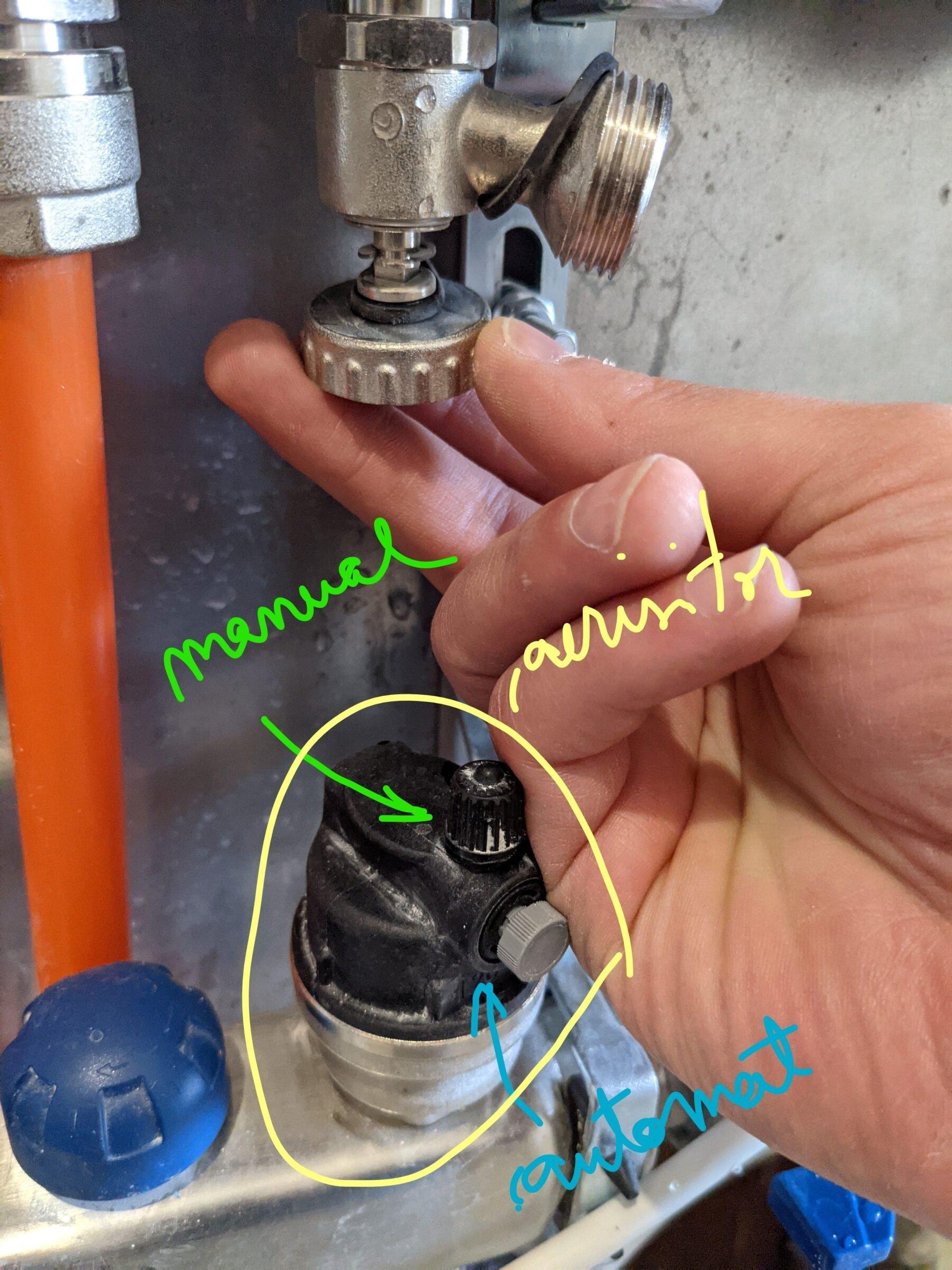 Aerisire incalzire in pardoseala - aerisitor manual automat
