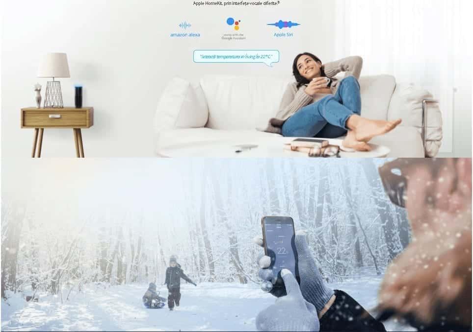 Cap termostatic WiFi Siri, Alexa, Ok Google