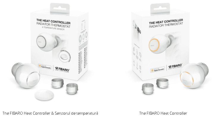Cap termostatic inteligent Fibaro cu senzor