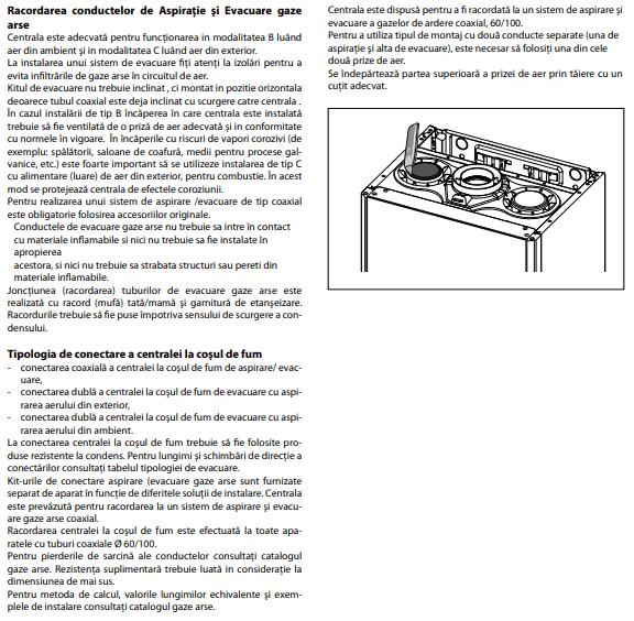 Manual instalare aspiratie evacuare centrala cu condensare 2018