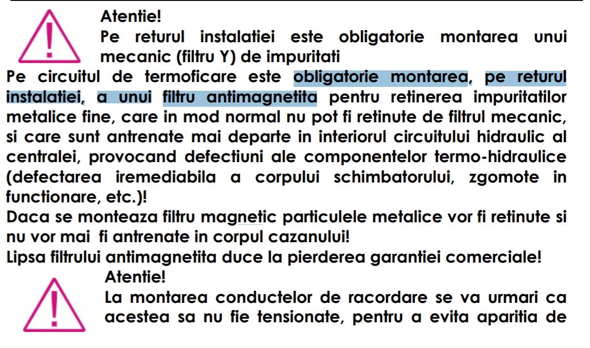 Motan impune folosirea filtrului antimagnetita